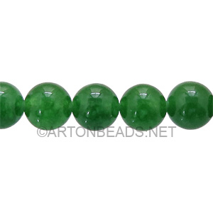 Enhanced Green Jade - Round - 8mm