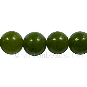 Enhanced Green Jade - Round - 10mm