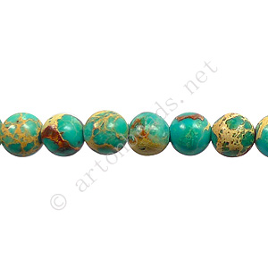 Imperial Jasper - Turquoise Blue - Round - 6mm