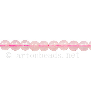 Rose Quartz - Round - 4mm
