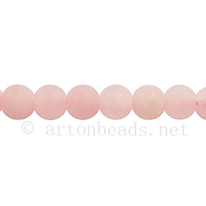 Rose Quartz - Matte - Round - 6mm