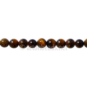 Tiger's Eye - Round - 4mm