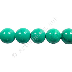 Turquoise - Round - 8mm