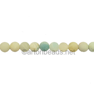Amazonite -Matte- Round - 4mm - Click Image to Close