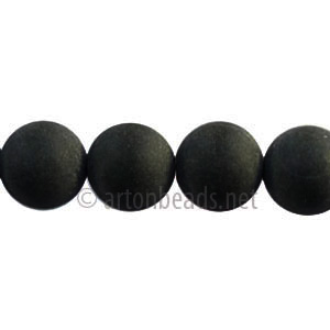 Black Agate - Matte Round - 10mm