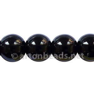 Black Agate - Round - 10mm