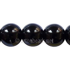 Black Agate - Round - 12mm