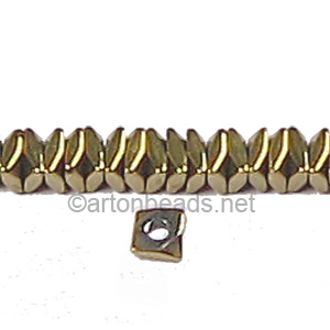 Electroplated (Gold) Hematite - Square - 1X3mm