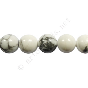 White Howlite - Round - 8mm