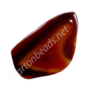 Slice Agate - Small - Carnelian - 20x43 - 32x59mm - 1pc