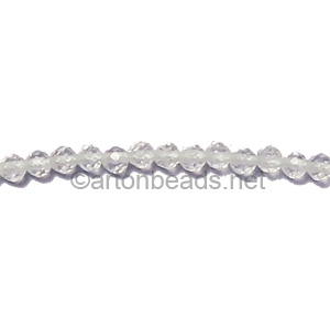 Crystal Quartz - Faceted - Round - 2mm