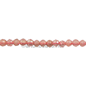 Rhodonite - Faceted - Round - 2mm
