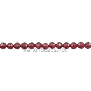 Garnet - Faceted - Round - 2mm