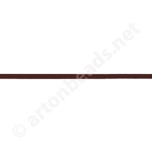 Genuine Leather Cord - Brown - 1mm x 3M