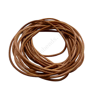 Genuine Leather Cord - Natural - 1.5mm x 3M