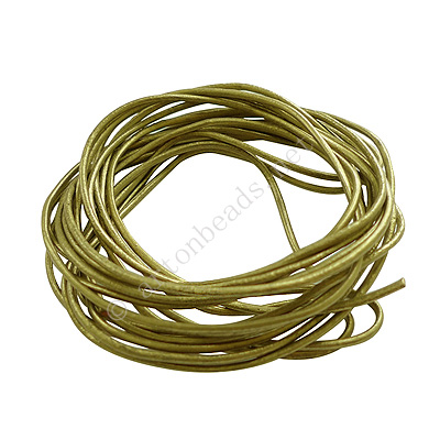*Genuine Leather Cord - Olive Pearlized - 1.5mm x 3M