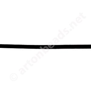 Genuine Leather Cord - Black - 2mm x 2M