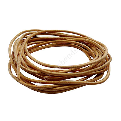 Genuine Leather Cord - Natural - 2mm x 2M