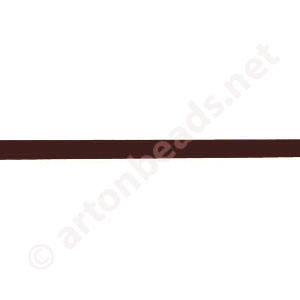 Genuine Leather Cord - Brown - 3mm x 2M