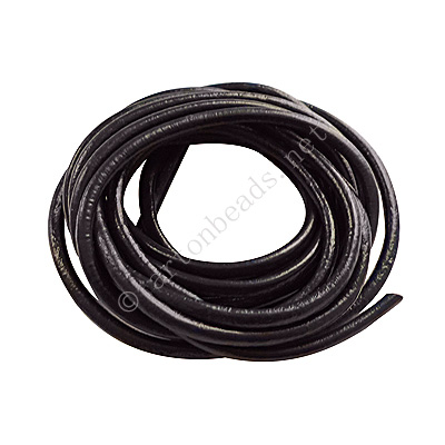 Genuine Leather Cord - Navy Blue - 3mm x 2M
