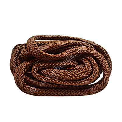 Polyester Braided Cords - Dark Brown - 3.5x7mm - 2M