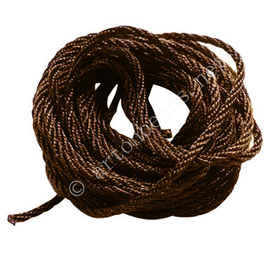 Rayon Twised Cords - Dark Brown - 2mm x 5M