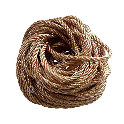 Rayon Twised Cords - Beige - 2mm x 5M
