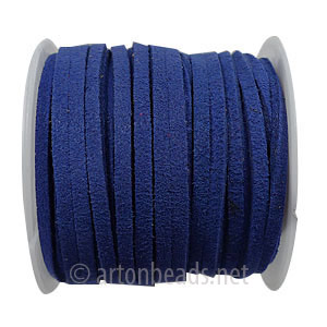 Velvet Flat Cord - Royal Blue - 1.4x3mm - 5M - 1 Spool
