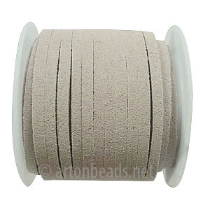 Velvet Flat Cord - Grey - 1.4x3mm - 5M - 1 Spool