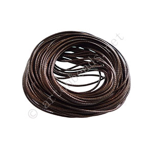 Qualitied Waxed Cotton Cord - Brown - 1mm - 10M