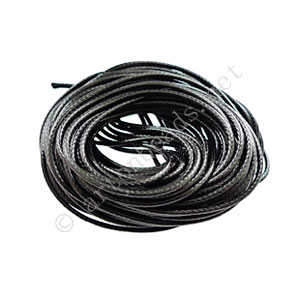 Qualitied Waxed Cotton Cord - Black - 1.5mm - 10M
