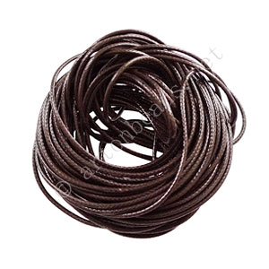 Qualitied Waxed Cotton Cord - Brown - 1.5mm - 10M