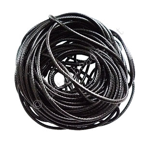 Qualitied Waxed Cotton Cord - Black - 2mm - 10M