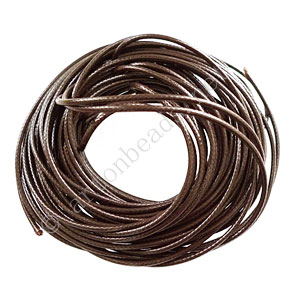 Qualitied Waxed Cotton Cord - Brown - 2mm - 10M