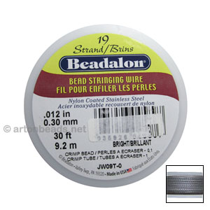 "*Beadalon Flexible Wire 19std - 0.012"" - Original Color"