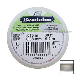 "*Beadalon Wire 7std - 0.015"" - Silver Color"
