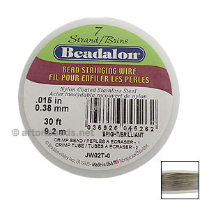 "Beadalon Wire 7std - 0.015"" - Original Color"