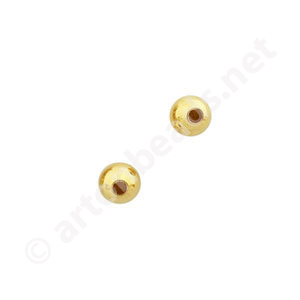 Memory Wire Half End Beads - 18k Gold Plated - 3mm - 12pcs