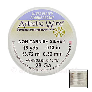 Artistic Wire - Non-Tarnish Silver - 0.32mm - 15Y