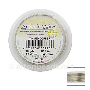 Artistic Wire - Tinned Copper - 0.40mm - 30Y