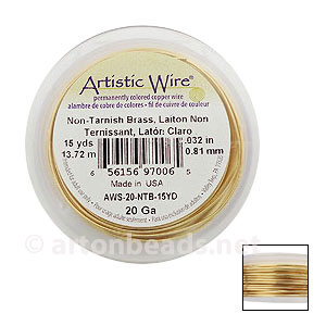 Artistic Wire - Non-Tarnish Brass - 0.81mm - 15Y