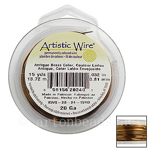 Artistic Wire - Antique Brass - 0.81mm - 15Y
