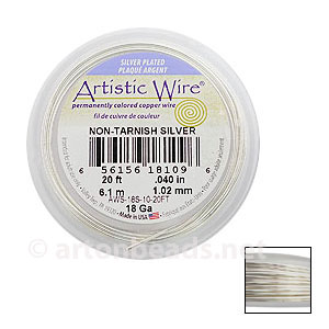 Artistic Wire - Non-Tarnish Silver - 1.02mm - 20F