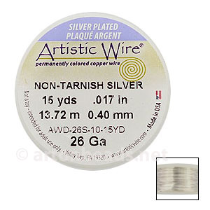 Artistic Wire - Non-Tarnish Silver - 0.40mm - 15Y