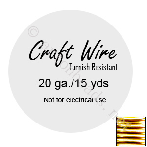 Craft Wire - Non-Tarnish Gold Plated - 0.8mm - 15Y