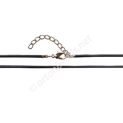 Rubbon Cord With Clasp - 1.8mm x 1 - 18""