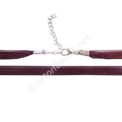 Ribbon With Clasp - 7mmx2 - 16.5""
