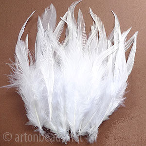 "Rooster Feather - 3.6-4.6"" - 3.2g"
