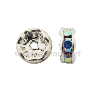 Crystal Rondelle - Crystal AB - 6mm - 8pcs