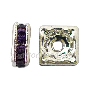 Crystal Squaredelle - Tanzanite - 7mm - 6pcs